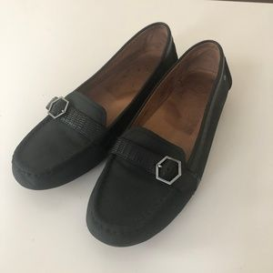 UGG Black Leather Loafer Shoes